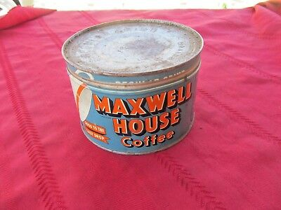 Maxwell House Coffee Tin With Lid