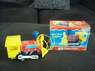 (VINTAGE MINT IN BOX) FISHER-PRICE TOY toot toot train 643  (INVESTMENT)