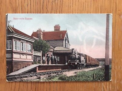 Vintage Postcard, Barcombe, Railway Station, 1909, Lewes, Local Publisher