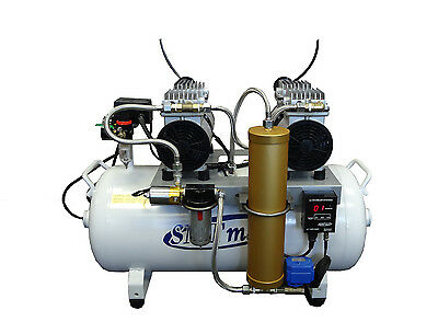2HP Oil Free Dental Air Compressor w/ automatic dryer