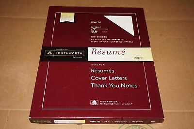 southworth 100 cotton resume paper 32 lbs 8 1 2 x 11 ivory wove