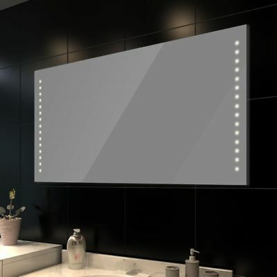vidaXL Espejo del Baño con luces de LED en Pared 100 x 60 cm (Largo x Ancho)
