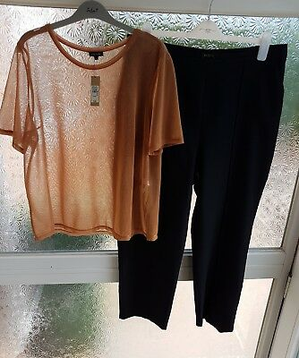 Ladies River Island Top & Trousers Bundle Size 16