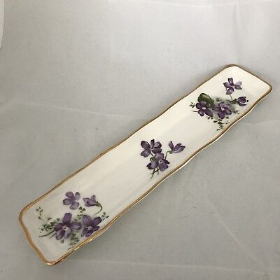 Victorian Violets Hammersley Bone China Mint Pin Dresser Dish England