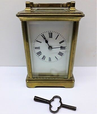 Antique French 8 Day Carriage / Mantle Clock Good working order.
