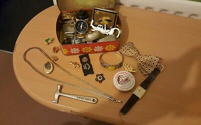 job lot of vintage antique collectables includes silver.