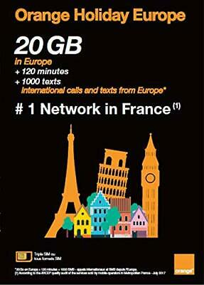 Orange Holiday Europe Tourist SIM roaming free 10 GB data+120 min talk US seller