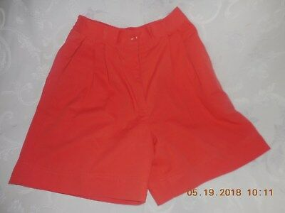 Ladies Laura Gayle  summer shorts,Burnt orange, Size 4 petite