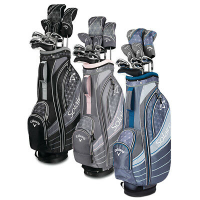 New Lady Callaway Solaire 18 Complete Golf Set W Driver Wood Irons