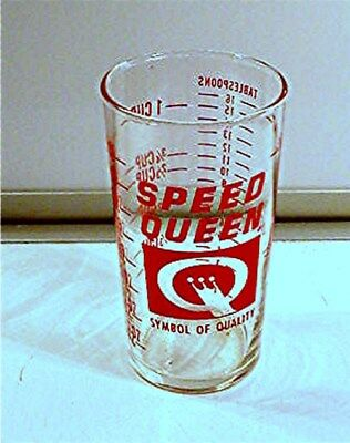 Vintage Speed Queen Advertising Measuring Glass 1/2 Pint-Cup- Ounces-Tablespoons