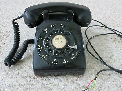 Vintage Western Electric Black Rotary Phone CD500 G1 Handset, Tested Working