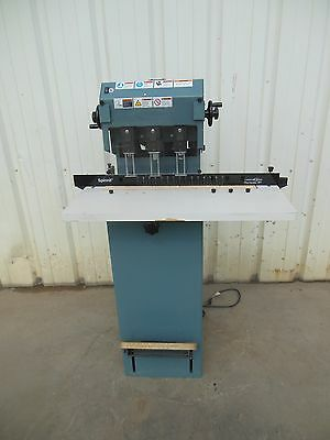 Lasco Spinnit Fmm3 Fmm-3 Manual Lift Electric 3 Spindle Hole Paper Drill