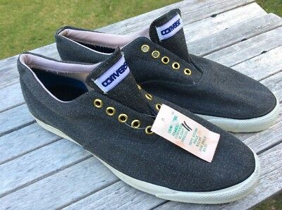 Vtg. UNUSED?.. Converse Skidgrip Made In USA Casual Sneakers 11 Mens 1980s-90s?