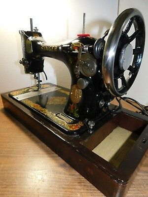 SINGER 128 Industrial Strength HEAVY DUTY Sewing Machine 16 oz LEATHER 3/8 LIFT