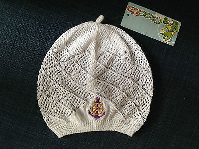 NEW Lovely Baby Boy Girl Knitted White Soft Cotton Hat w/ Anchor sz 3-9m