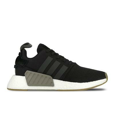 b64e1a2bd4e94 MENS ADIDAS NMD R2 Black Running Trainers BY9917 -  135.97