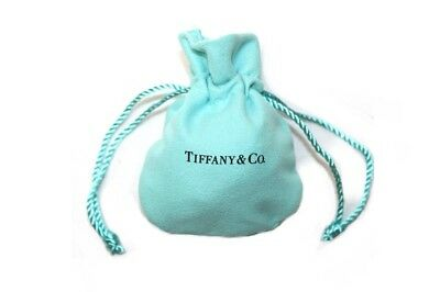 Tiffany & Co. Cloth Suede Drawstring Travel Mini Jewelry Pouch Gift Bag New