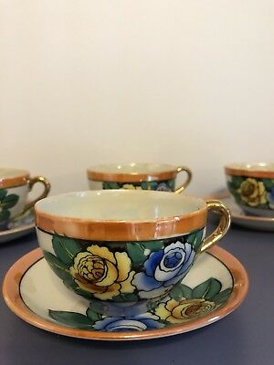 Hand Painted Tea Cups And Saucers