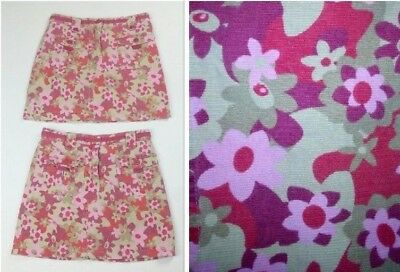 LL Bean Kids Girls Size 8 Skirt Twins Lot of 2 Matching Pink Floral Corduroy
