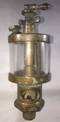 American Lub'r Co.brass/glass Oilier Hit Miss Engine Made In Detroit, Mi