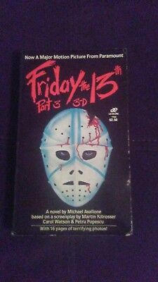 friday the 13th part 3 3-D movie tie in paperback