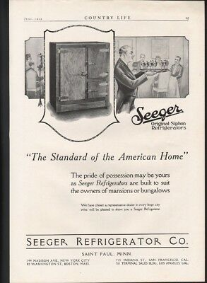 1923 Seeger Refrigerator Ice Box Cabinet Chest Saint Paul Minnesota Cream 22591