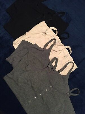 Gilligan & O'malley Nursing Cami Henley Tank Lot Of 5 XL Grey Beige & Black