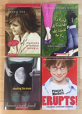 Lot 4 FRANCES O'ROARK DOWELL PB Books DOVEY COE The Kind of Friends We Used EXC!