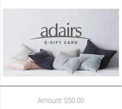 Adairs voucher with a value of $50