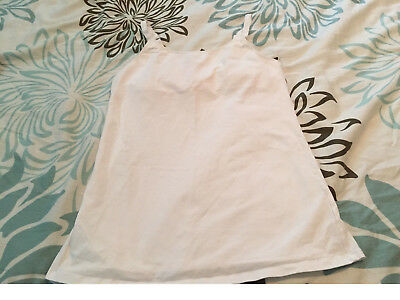 White nursing tank top, Gilligan & O'Malley, size M