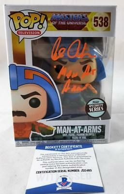Alan Oppenheimer Man-At-Arms Signed Funko Pop Motu Bas Coa 483