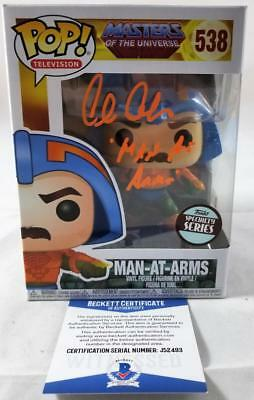 Alan Oppenheimer Man-At-Arms Signed Funko Pop Motu Bas Coa 493