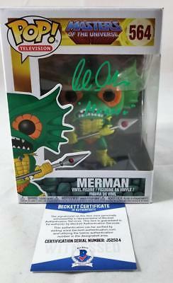 Alan Oppenheimer Merman Signed Funko Pop Motu Bas Coa 524