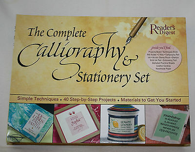 Complete Calligraphy and Stationery Set Readers Digest 40 Projects Book Tools