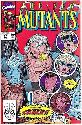 New Mutants 87 1st Print VF to VF+ 1st Appearance of Cable Deadpool Movie HOT!!