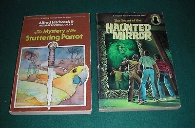 Hitchcock & 3 Investigators #2, 21~Lot of 2 PB~Stuttering Parrot, Haunted Mirror