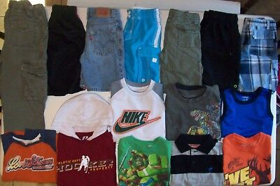 Boys clothes lot size 4T boys Summer clothes size 4 Nike Levi Ninja Bass Pro