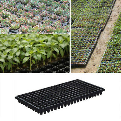 200 Cell Seedling Starter Trays For Seed Germination Plant Propagation Black New