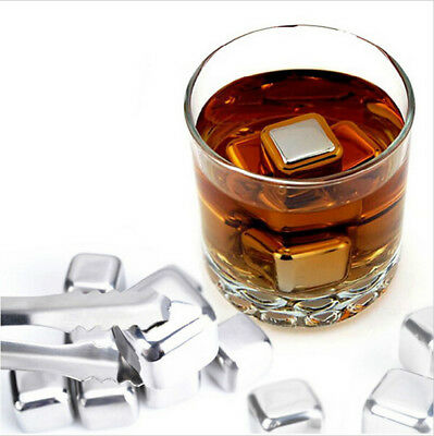 Ice Cube Chiller Stones Stainless Steel Cooler Stone For Whiskey Wine Flavor AU