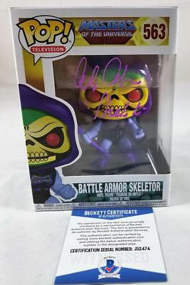 Alan Oppenheimer Skeletor Signed Funko Pop Motu Bas Coa 474