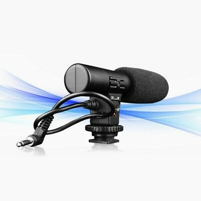 Mini Stereo Recording 3.5mm Microphone Mic for DSLR Camera DV Video Camcorder PC