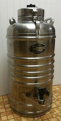 5 Gallon Vacuum Can Co. Stainless Steel Thermal Jug Beverage Carrier Chicago ILL