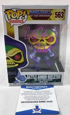 Alan Oppenheimer Skeletor Signed Funko Pop Motu Bas Coa 425