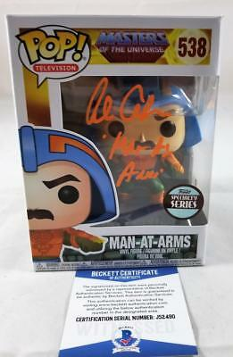 Alan Oppenheimer Man-At-Arms Signed Funko Pop Motu Bas Coa 490