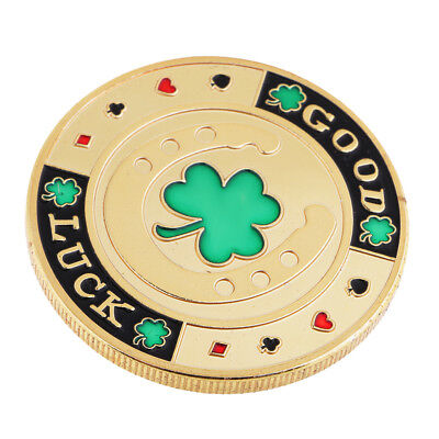 Four Leaf Clover Luck Coin Toy Chip Card Commemorative Coin Toys Unique Gift