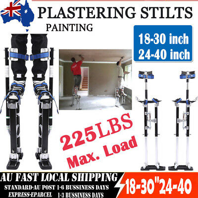 "Plastering Stilts Plaster 18-30"" 24-40""inch Adjustable Drywall Painting Aluminum"