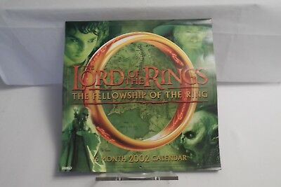 WANDKALENDER : The Lord of the Rings Die Gefährten 2002 TOP ZUSTAND !