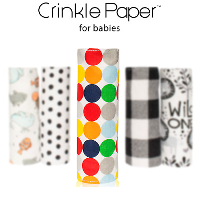Crinkle Paper - Sensory Toy - Baby Paper - Baby Shower Gift - Baby Toy - Infant