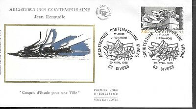 FR423) France 1985 Contemporary Architecture Silk FDC $4.00