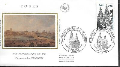 FR424) France 1985 Towers Panoramic View In 1787 Silk FDC $4.00